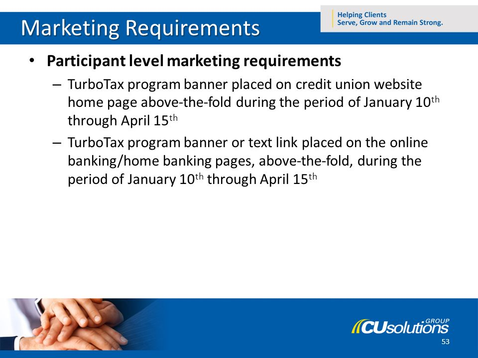 53 Marketing Requirements Participant ...