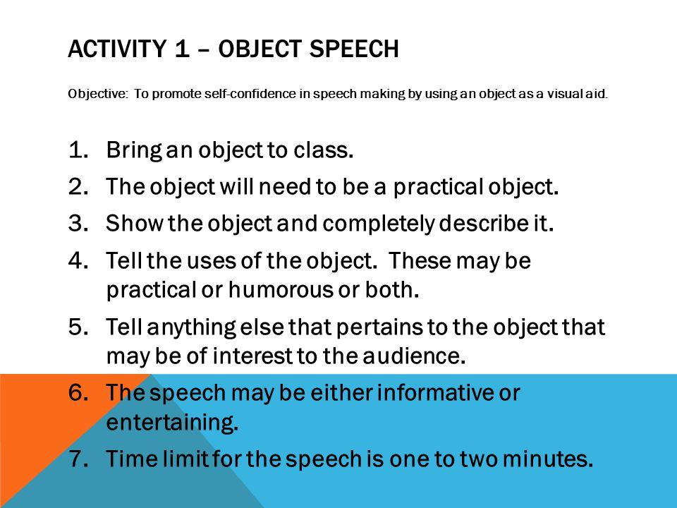 speech i informative speech