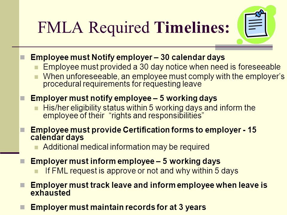 Non Occupational Absence Management Fmla Policy And Procedures City