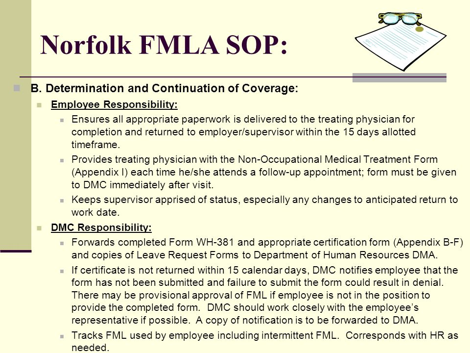 Non-Occupational Absence Management Fmla Policy And Procedures