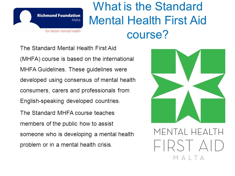 mental health first aid pre quiz What is the evidence base for mental health first aid one approach to integrating fi ndings across a number of studies completing the pre-test.