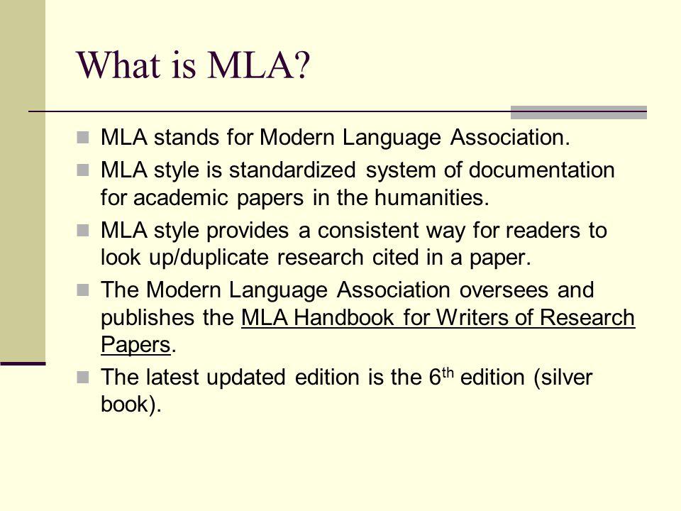 MLA Style: An Introduction - University of Louisiana