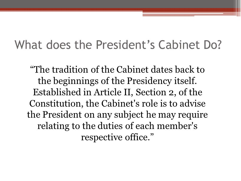 the powers of the president and the cabinet 12 powers granted by