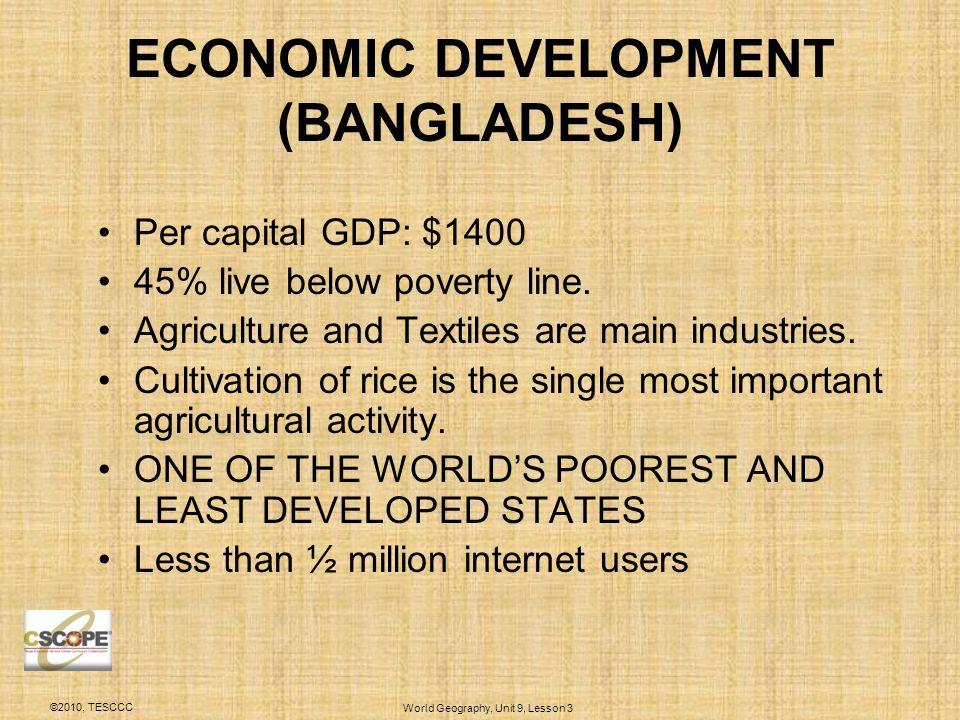 economic development of bangladesh Economic indicators for bangladesh including actual values, historical data charts, an economic calendar, time-series statistics, business news, long term forecasts and short-term predictions for bangladesh economy.