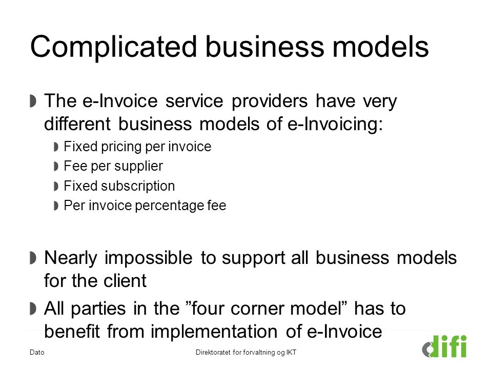 EInvoice Implementation Challenges In EU Christian Vindinge - Ehf format invoice for service business