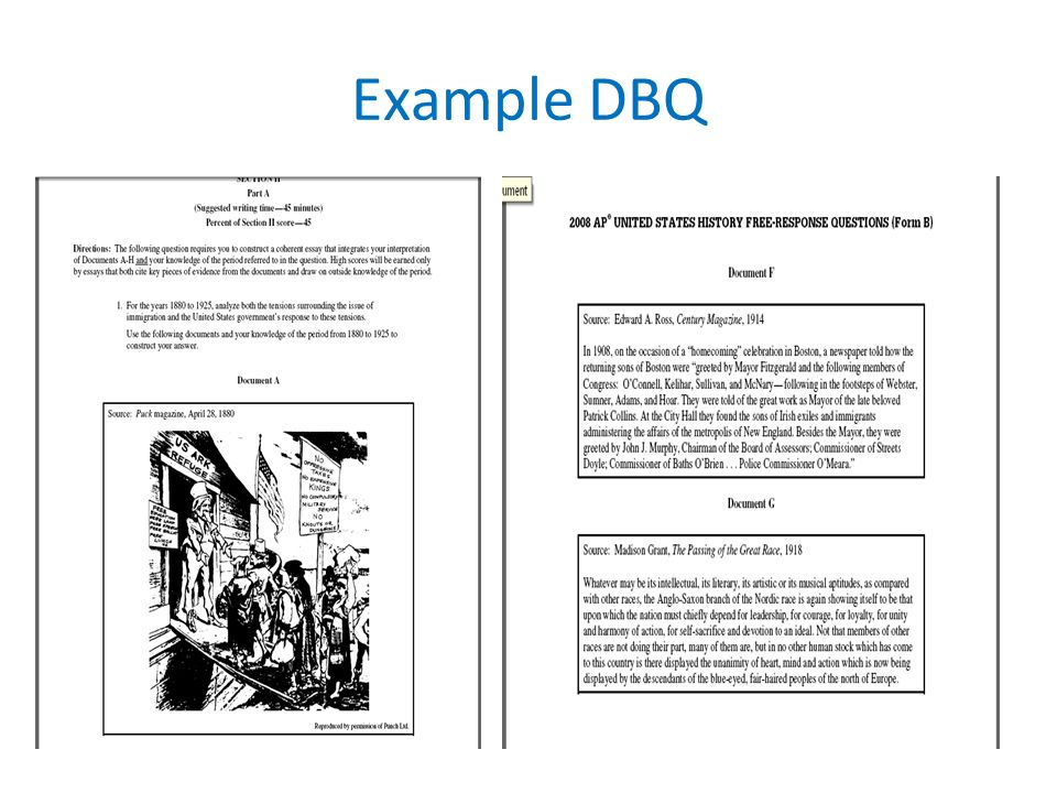 essay format dbq frq importance dbq % of your ap test grade  3 example dbq