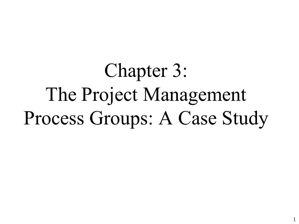 project management case study 5 In critical studies of project management it has been noted that phased approaches are not well suited for projects which are large-scale a project is said to be.