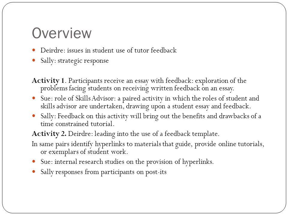 Essay feedback please?