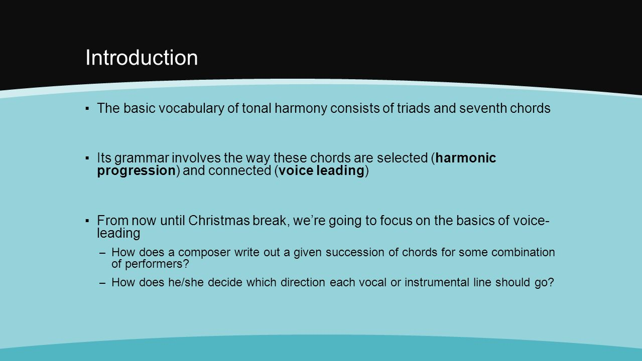 Before we begin get ready for your test figured bass and introduction the basic vocabulary of tonal harmony consists of triads and seventh chords its hexwebz Images