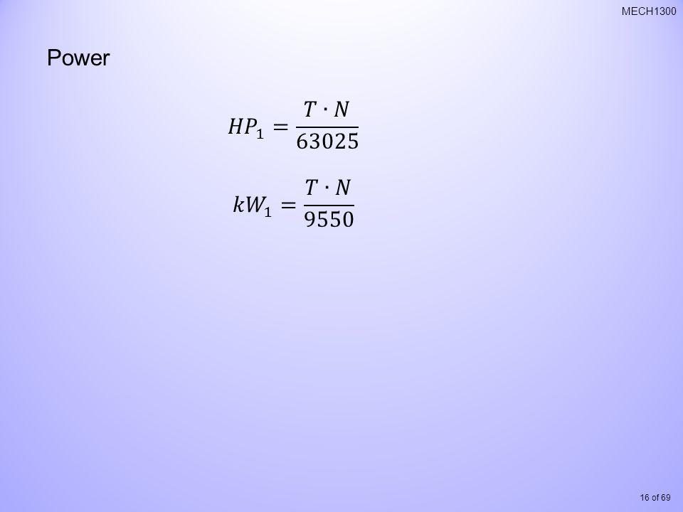 16 of 69 MECH1300