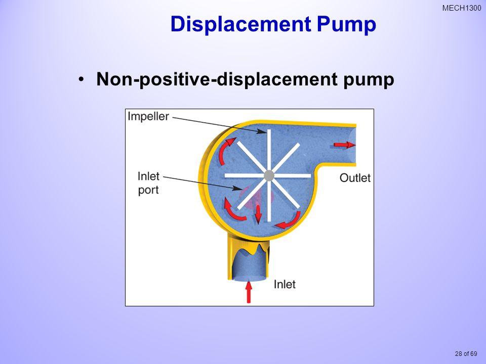28 of 69 MECH1300 Non-positive-displacement pump Displacement Pump
