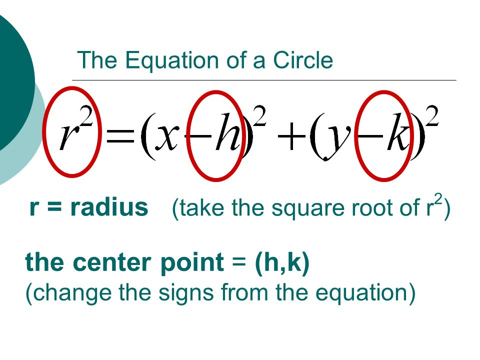writing equations of circles Simplify and write in standard form (x - 2) 2 + ( y tutorials on equation of circle interactive tutorial on equation of circle three points circle calculator.