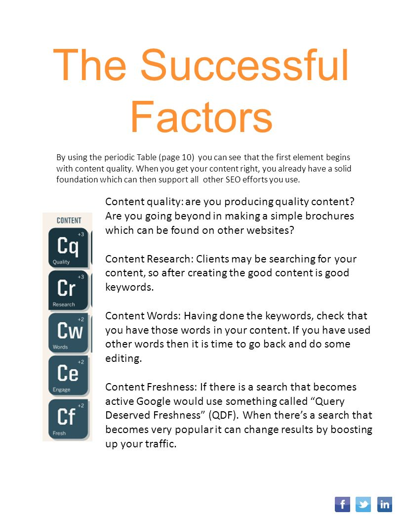 Digital marketing search engine optimization contents 1 the successful factors by using the periodic table page 10 you can see that gamestrikefo Images