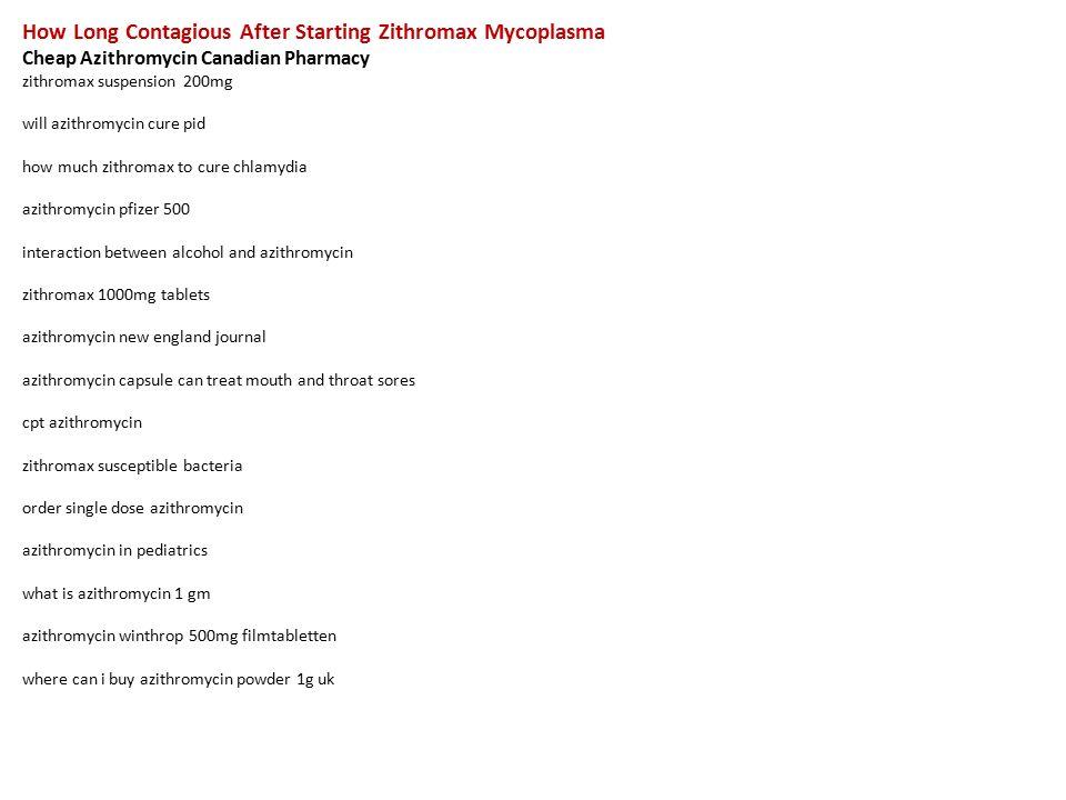 Zithromax dosage for mycoplasma