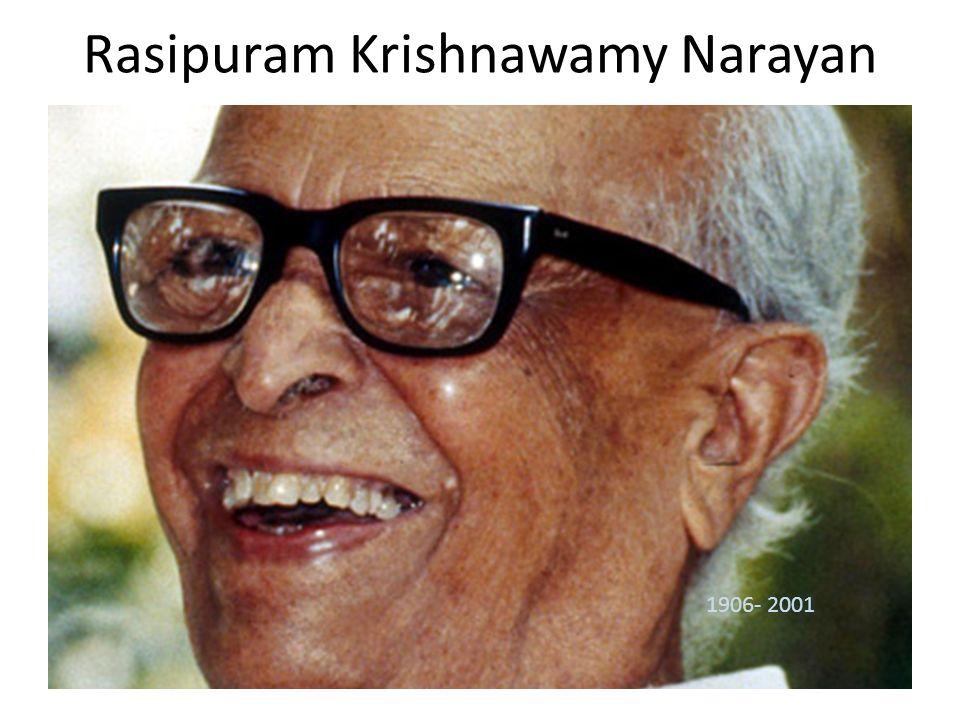 Rasipuram Krishnawamy Narayan 1906- 2001