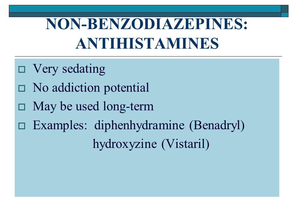 Are sedating antihistamines addictive