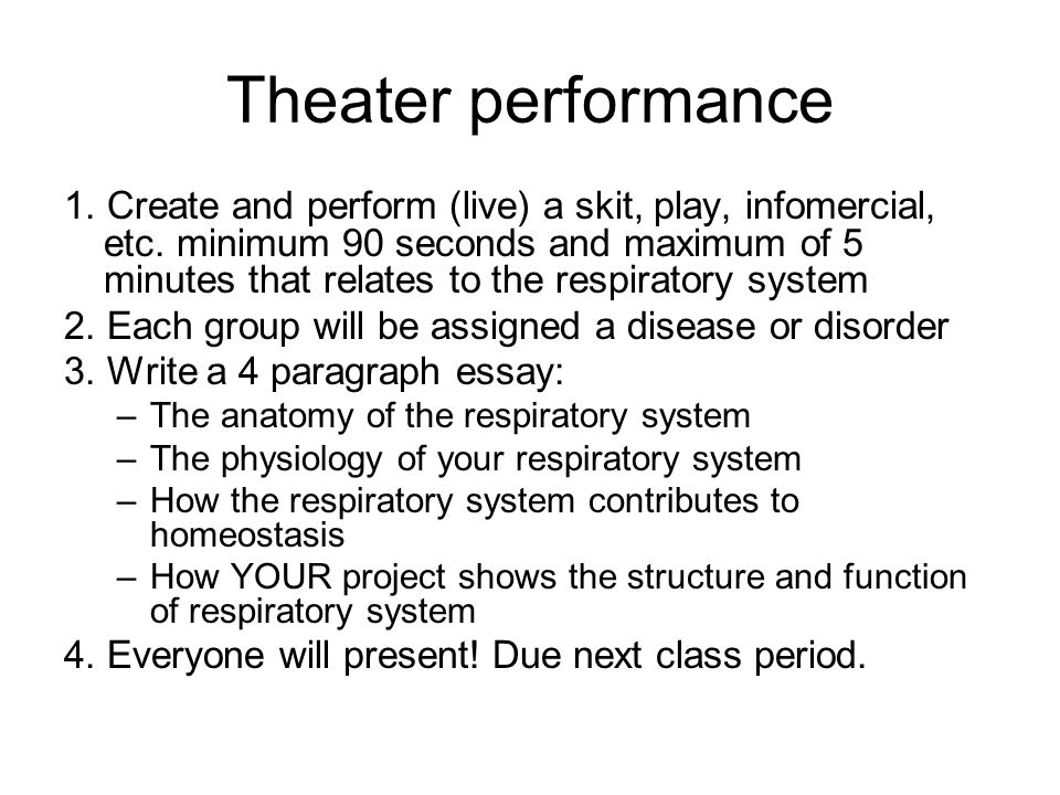unit the respiratory system warm up  draw what you know of  19 theater performance