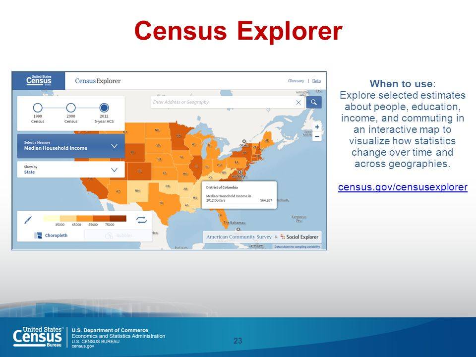 American Community Survey ACS Overview Access Eric Coyle Data - Us census buraue interactive map education