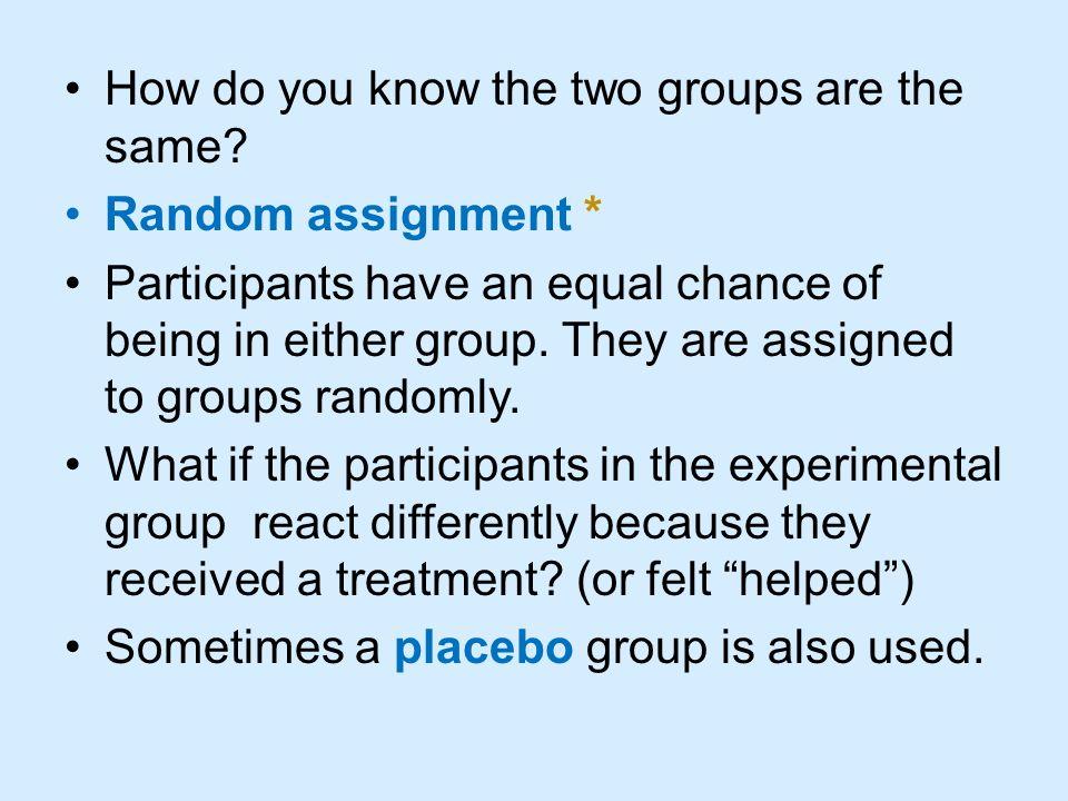 How to do random assignment