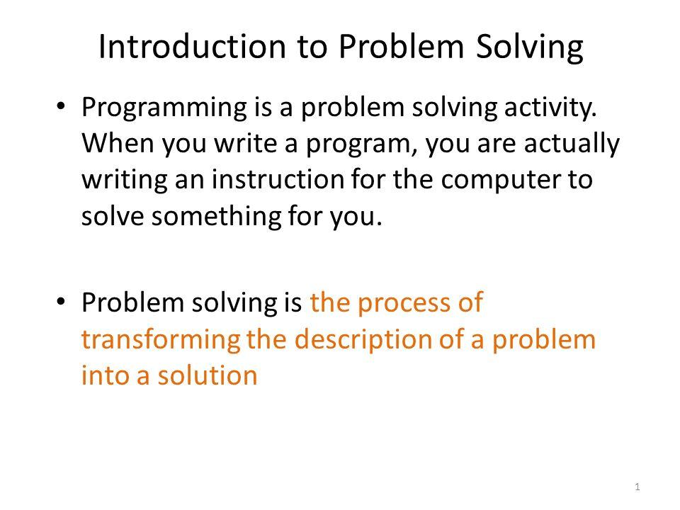 Problem solving programming