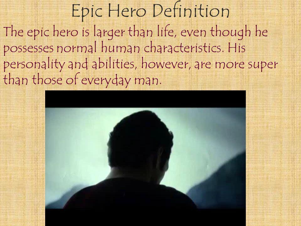 Attractive Epic Hero Definition