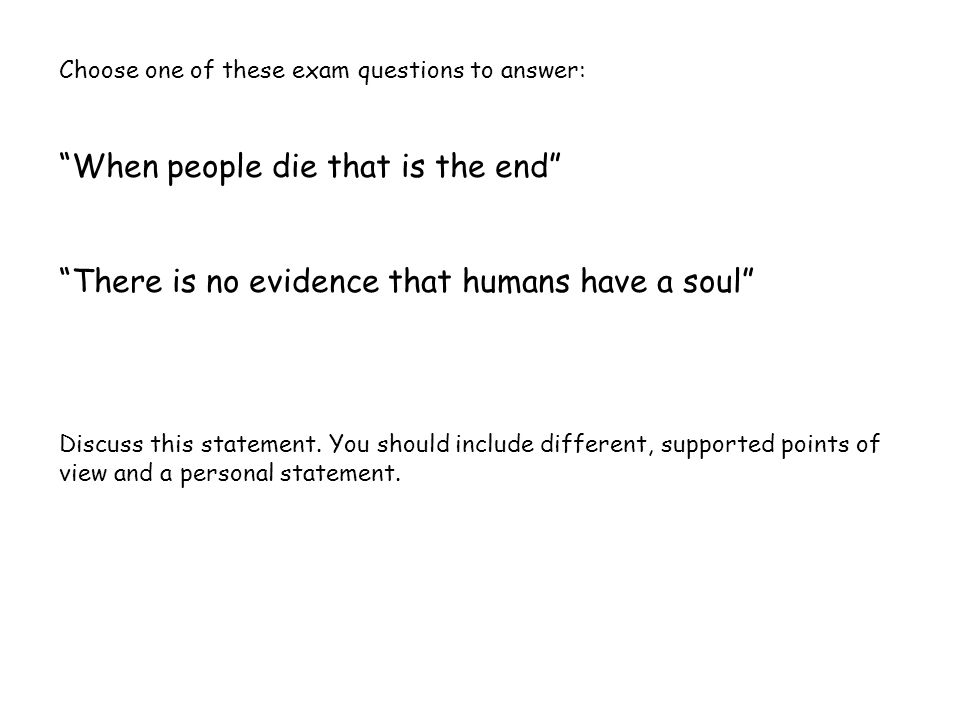 ending a personal statement