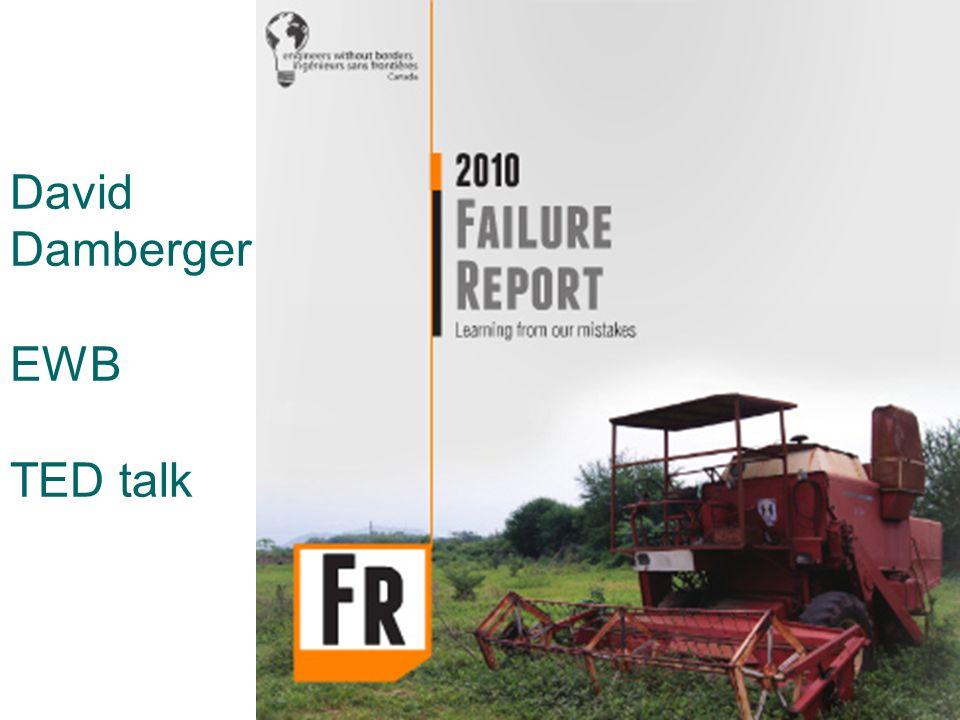 David Damberger EWB TED talk