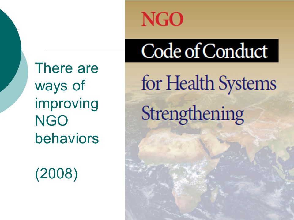 There are ways of improving NGO behaviors (2008)
