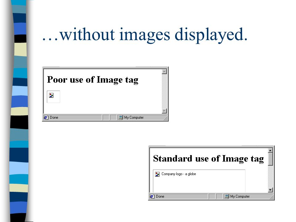 …without images displayed.