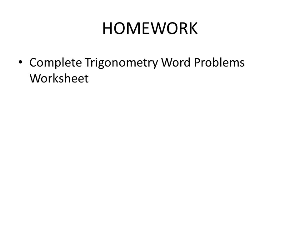 Section 9 3 Section 9 3 Angles of Elevation Depression – Trigonometry Word Problems Worksheet