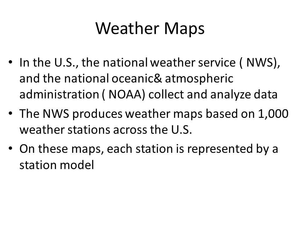 6 Weather Maps In The U S The National