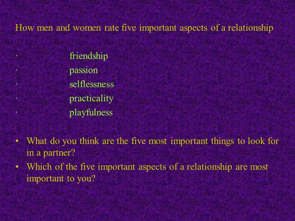 Physical Attractiveness In A Relationship Is Most Important To