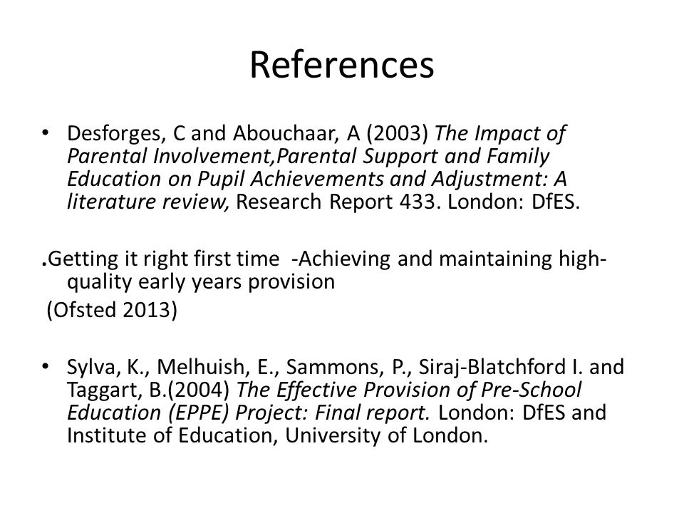 A literature review of the impact of early years provision on