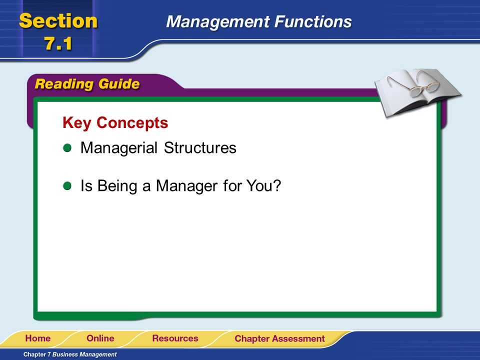 Key Concepts Managerial Structures Is Being a Manager for You?