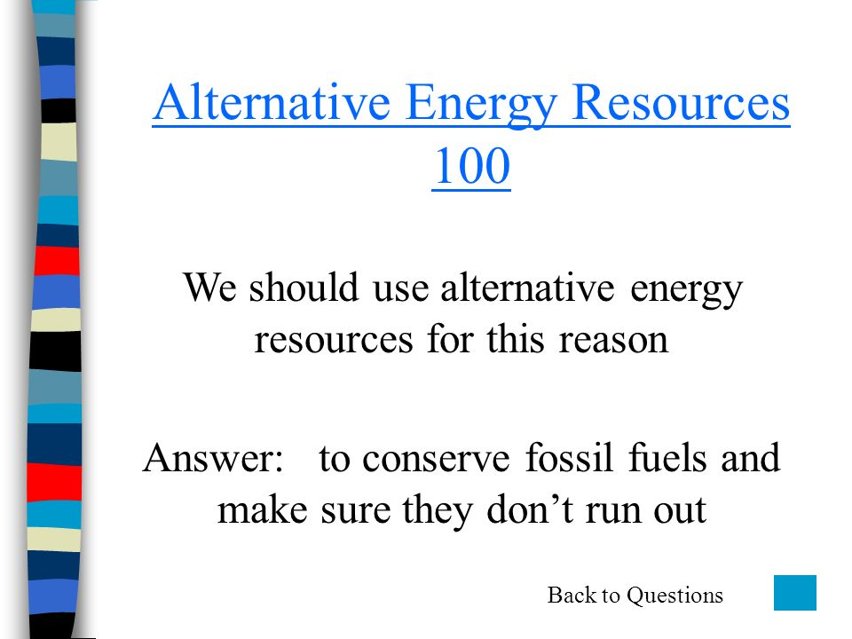 alternative fuel sources will save the