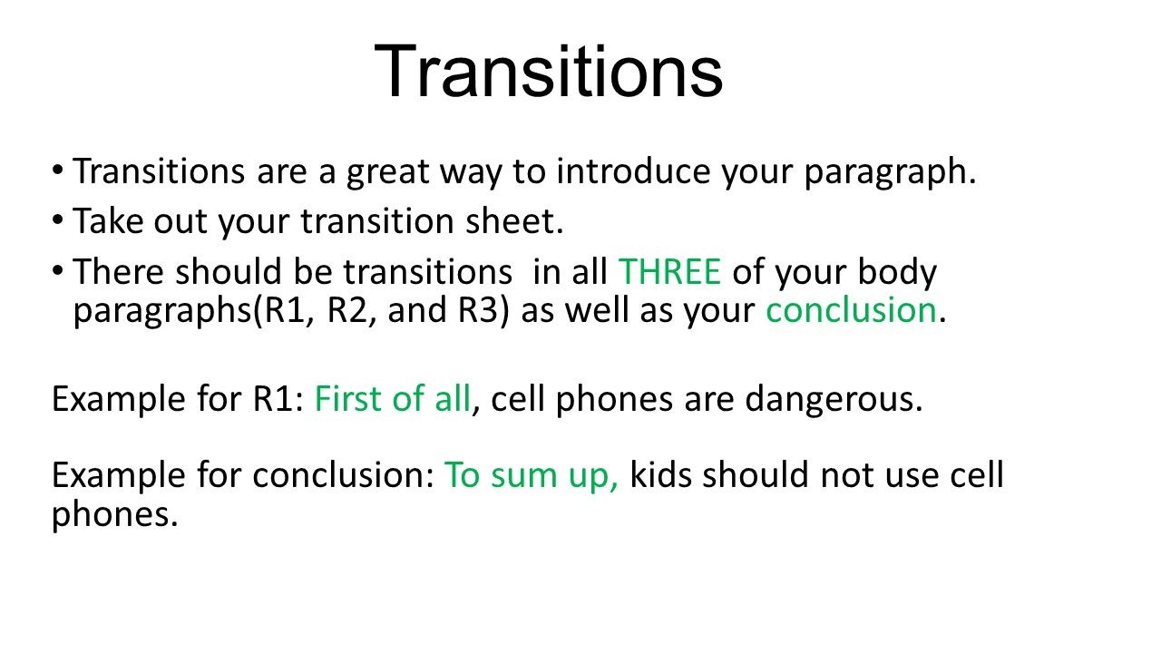 how to write a well written essay text evidence ppt 8 transitions