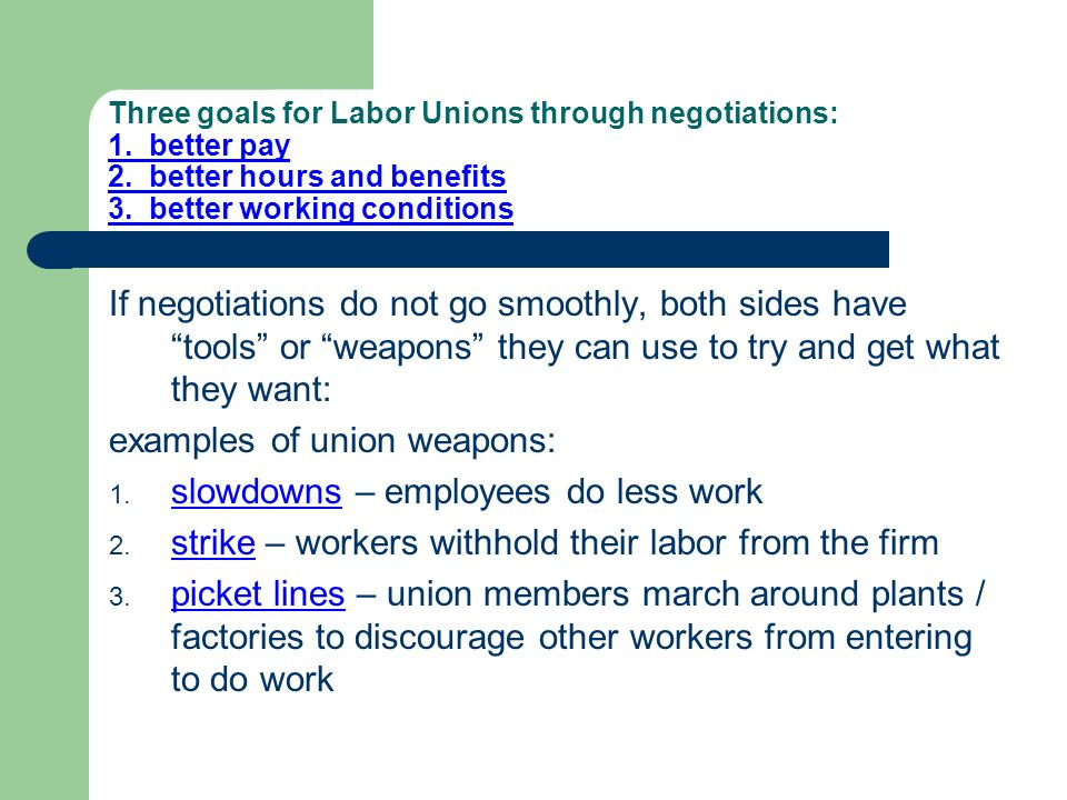 Labor Unions CE.E.3.3 – Analyze various organizations in terms of ...