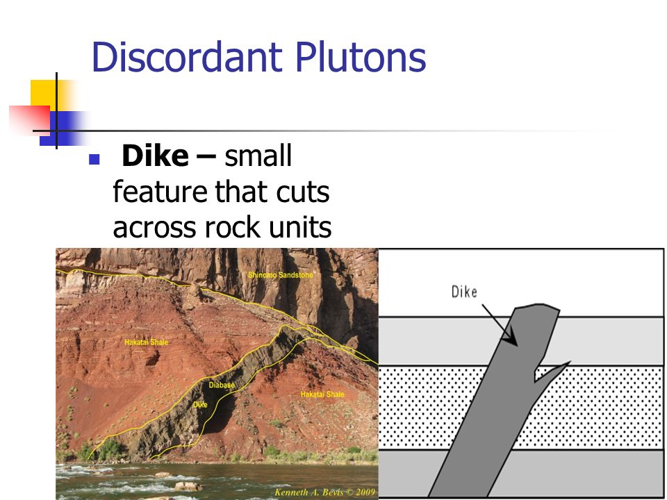 What is a discordant rock type?