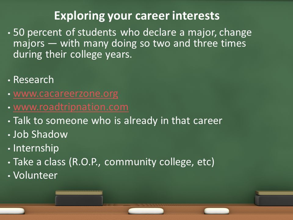 exploring your career interests 50 percent of students who declare a major change majors - The Difference Of Changing Careers At 30 At 40 At 50