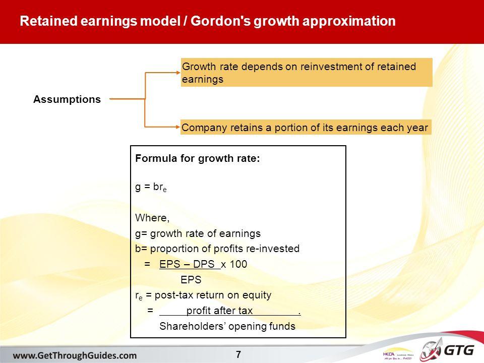 gordon s formula