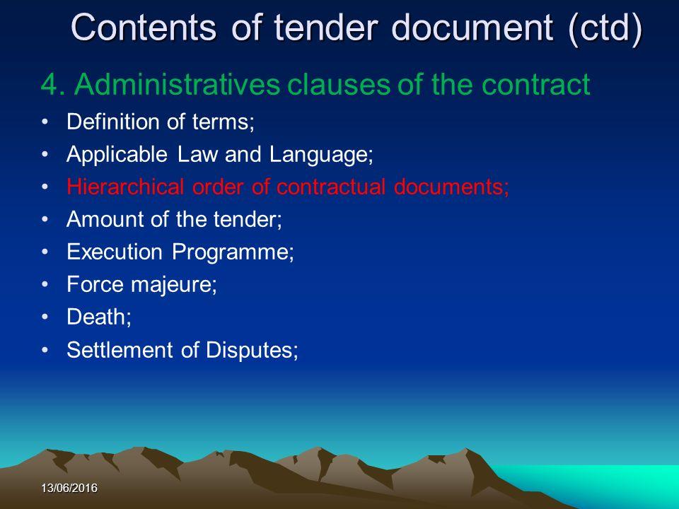 Public procurement procedures in public institutions septembre contents of tender document ctd 4 stopboris Gallery