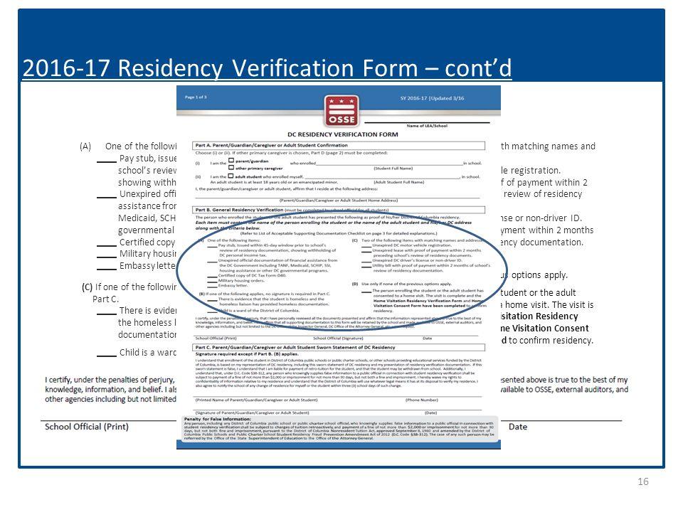 Gearing Up for Enrollment Residency Verification Webinar Tuesday ...