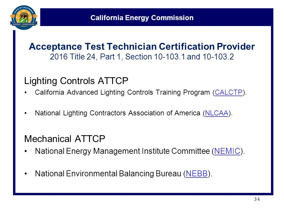 34 California ...  sc 1 st  SlidePlayer & California Energy Commission Acceptance Test Technician ... azcodes.com