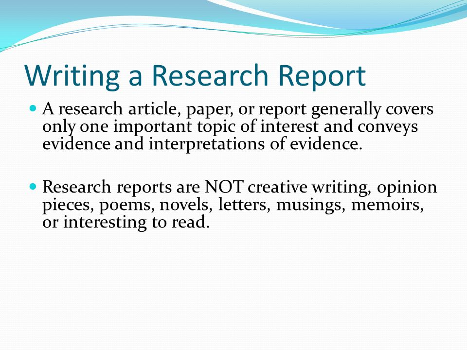 research paper covers
