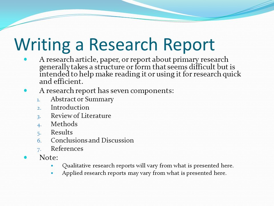 research article case report Here is a really good example of a scholary research critique written by a student in edrs 6301 the student who submitted this paper last semester earned a.