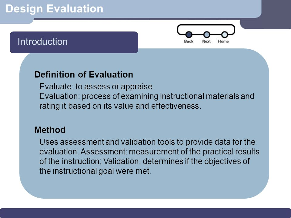 Design Evaluation Overview Introduction Model For Interface Design