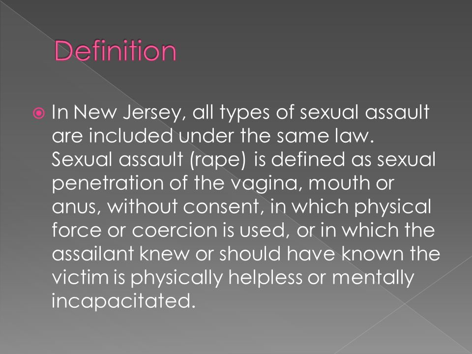 Legal term object sexual penetration