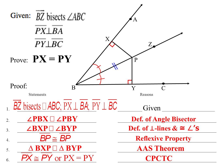 worksheet Define Reflexive Property lesson 4 7 medians altitudes and perpendicular bisectors page 31 statementsreasons 1
