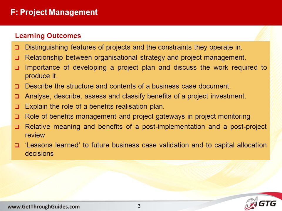 P3 Business Analysis. 2 Section F: Project Management F1.The ...