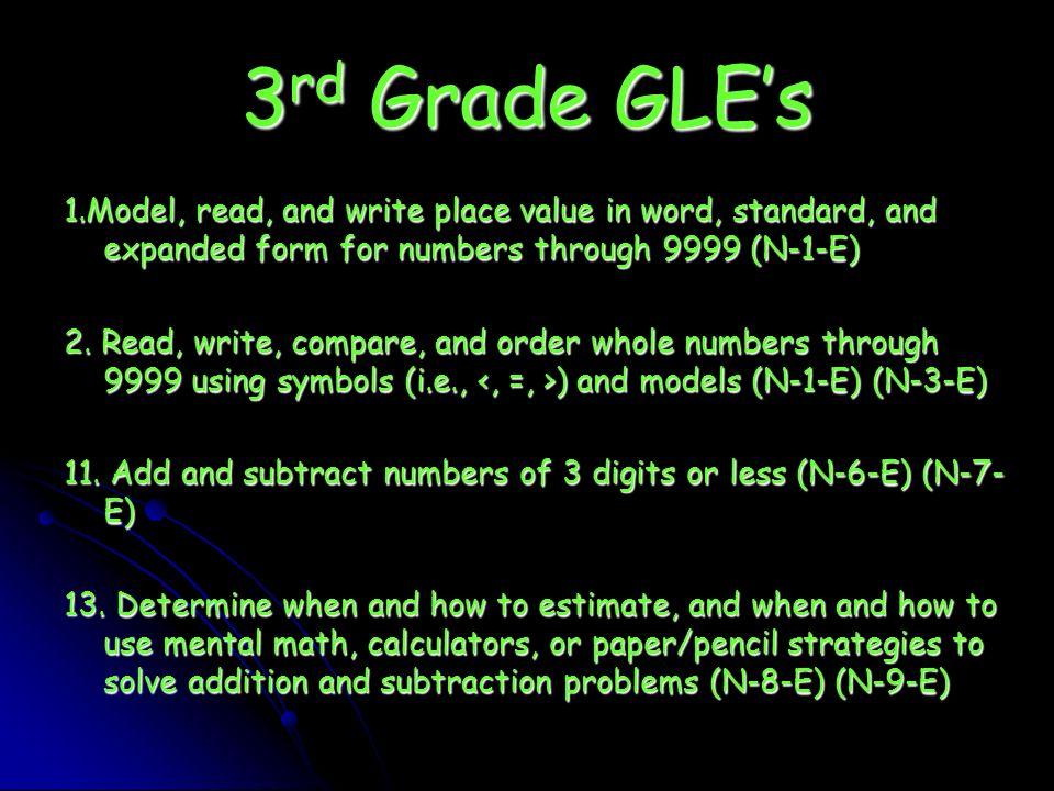 How Do I Compare Unit Two Activity 3 3 Rd Grade Gles 1del